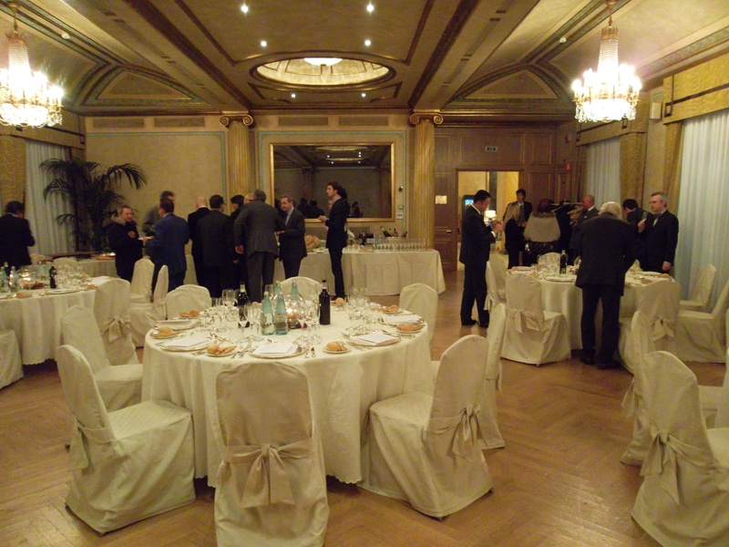 At Westin Palace, Fiabci Italia Christmas dinner